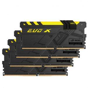 رم کامپیوتر GEIL مدل EVO-X-ROG-CERTIFIED-RGB-DDR4-3000Mhz-CL15-Desktop-32GB
