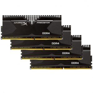 رم کامپیوتر KingSton مدل HyperX-PREDATOR-DDR4-8GBx4-3000Mhz-CL15-Desktop-32GB